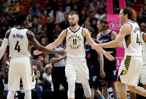 Pacers gut out difficult road victory against Heat after losing starter to ejection