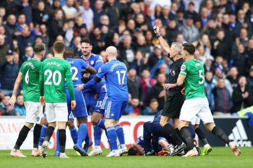 Fans and pundits divided on Dale Stephens' 'soft' red card tackle during Cardiff City v Brighton