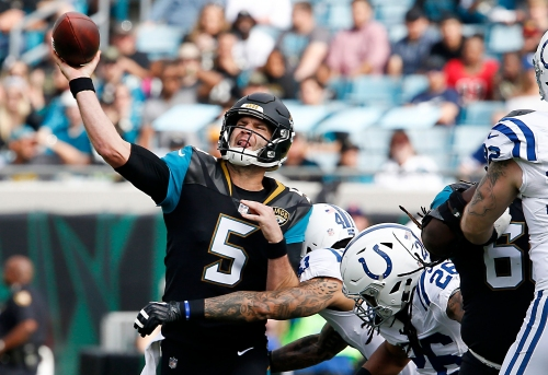 Matchup to watch: Even when struggling, Blake Bortles has killed the Colts over the years
