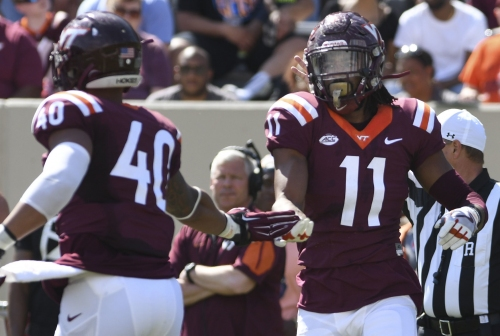 Virginia Tech starting DE Houshun Gaines injures knee against Pittsburgh