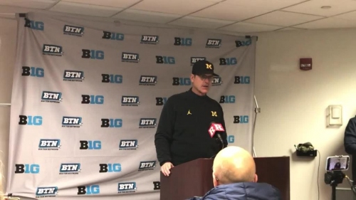Michigan's Jim Harbaugh: Shea Patterson does everything you ask him to