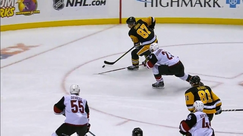 Penguins' Sidney Crosby pots yet another impossible backhand