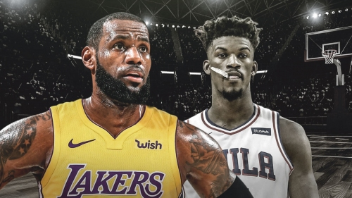 Lakers LeBron James reacts to Jimmy Butler trade to Sixers