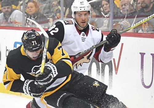 Sidney Crosby wills Penguins to 4-0 victory over Arizona