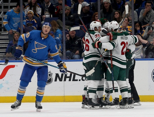 Blues hope second time's the charm against Minnesota
