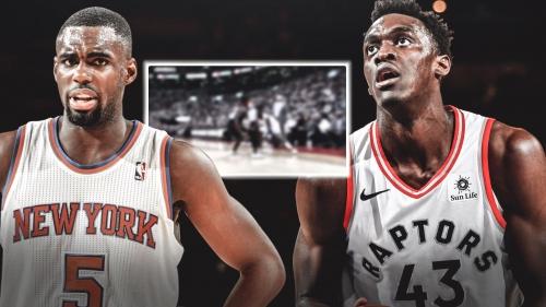 Video: Knicks' Tim Hardaway Jr. nutmegs Pascal Siakam