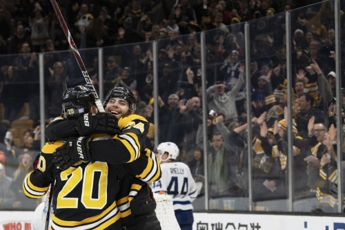 RECAP: Bruins bounce back, take down Toronto Maple Leafs 5-1 on Pastrnak's back