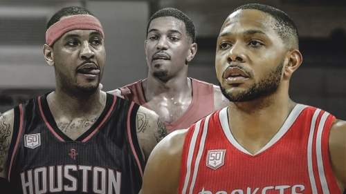 Return of Eric Gordon, emergence of Gary Clark playing role in Rockets' Carmelo Anthony discussions