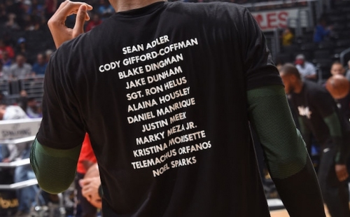 Hawks, Lakers To Honor Victims Of Thousand Oaks Mass Shooting By Wearing 'Enough' T-Shirts