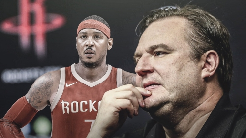 Rockets GM Daryl Morey denies report that Carmelo Anthony will be released soon