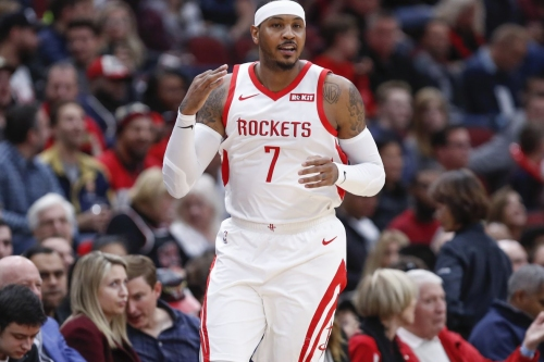 Carmelo Anthony to remain with Rockets, for now