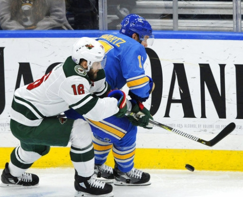 Blues close homestand with 3-2 loss to Wild