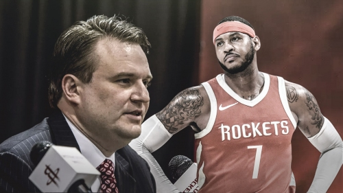 Rockets' Daryl Morey says criticism of Carmelo Anthony has been 'unfair'