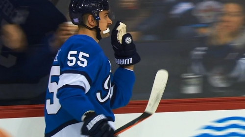 Roslovic, Scheifele score 29 seconds apart to give Jets lead