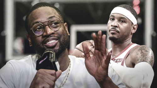 Heat news: Dwyane Wade says Rockets shouldn't blame Carmelo Anthony on struggles