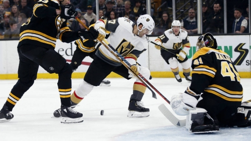 Halak shuts down Golden Knights in Bruins' win