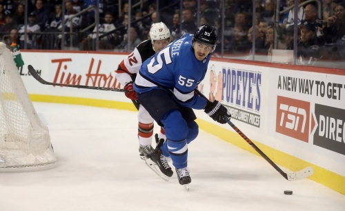Scheifele powers Jets past Devils with 3-point night