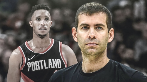 Blazers' Evan Turner jokes that he, Celtics' Brad Stevens will ride off into the sunset once he re-joins team, wins title