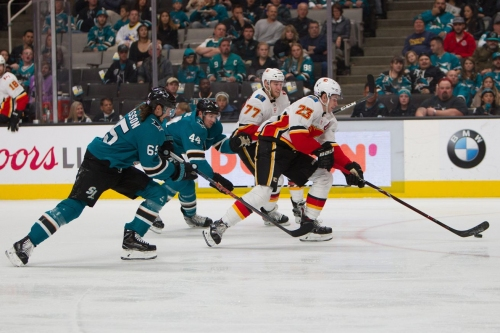 Calgary Flames (1) @ San Jose Sharks (3): Early Period Goals Send Flames To Defeat