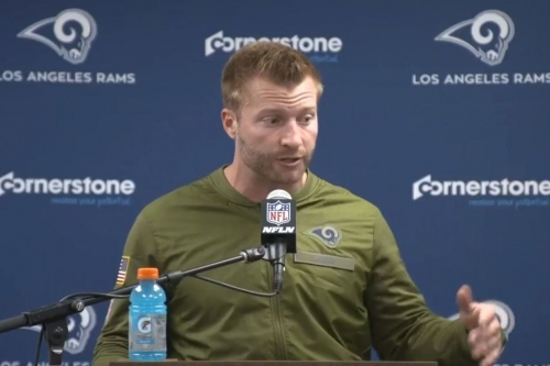 TRANSCRIPT: Week 10 post-game remarks from McVay, Goff and more