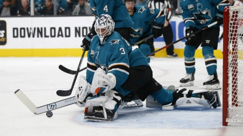 Pavelski leads Sharks in win over Flames