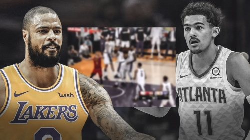 Video: Lakers' Tyson Chandler has game-winning block on Trae Young