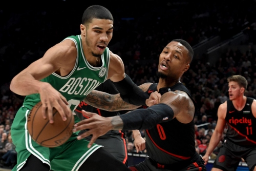 Video: Fall Leaves Lillard Limping after Celtics Win