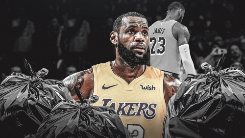 Lakers' LeBron James says he's 'garbage' after missing crucial free throws vs. Hawks