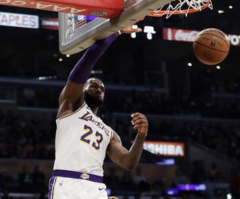 NBA roundup: LeBron James nets 26, dunks for winner as Lakers edge Hawks 107-106: