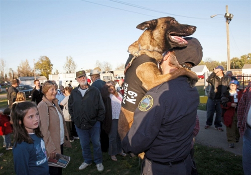 Ben's Ohio dogs and their partners are always game for police work