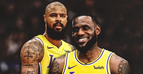 Lakers' LeBron James hilariously interrupts Tyson Chandler's interview