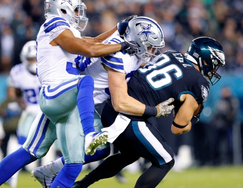 Golden Tate doesn't feast on Cowboys second time around; Zach Ertz goes off vs. Dallas, but not without regrets