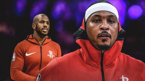 Chris Paul expresses confidence in Carmelo Anthony's ability but also unsure of future with Rockets