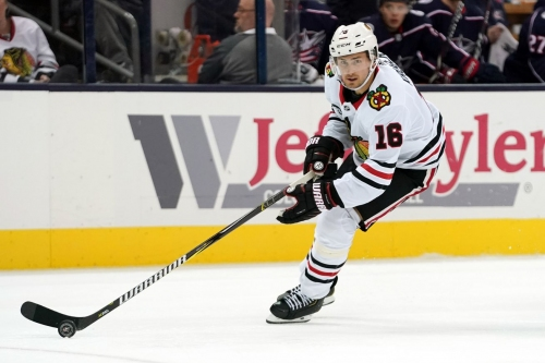 Blackhawks' Marcus Kruger out with left leg injury vs. Hurricanes