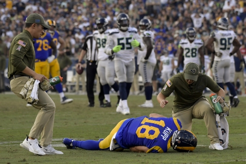 Rams receiver Cooper Kupp out for the season with torn ACL