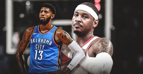 Thunder's Paul George says reason why Rockets aren't succeeding not because of Carmelo Anthony
