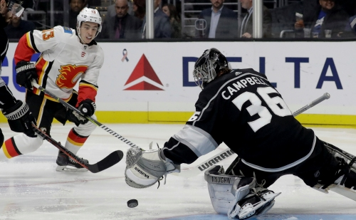Kings lose goalie Jack Campbell to knee surgery