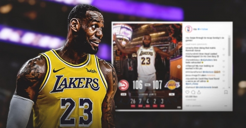 NBA Instagram uses questionable photo of Lakers' LeBron James for statline