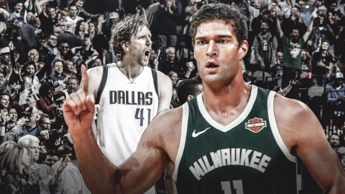 Bucks center Brook Lopez on pace to shatter Dirk Nowitzki's record for 3s by a 7-footer