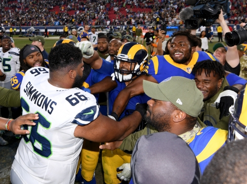 Rams coach Sean McVay dismayed by personal foul penalties, including Aaron Donald outburst