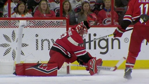 Hurricanes' Darling stuns Kane with spectacular glove save