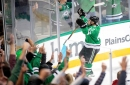 Stars forward Devin Shore hurt during game against Blue Jackets