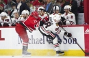 Hawks drop 8th straight game with 3-2 OT loss to Hurricanes