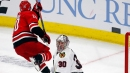 Aho scores in overtime, Hurricanes beat Blackhawks