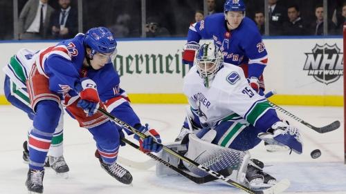 Lundqvist ties Plante on NHL wins list, Rangers beat Canucks