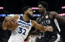 Towns, Teague lead Wolves over Nets after LeVert injury