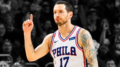Video: Sixers' JJ Redick loses shoe, hits 3-pointer anyway