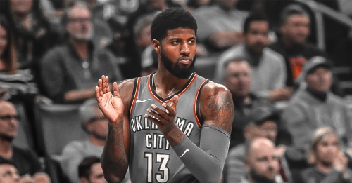 Thunder's Paul George offers his counseling to Caris LeVert after horrible injury