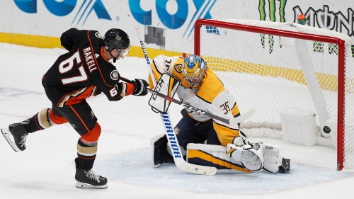 Ducks win in shootout to deal Preds first road loss