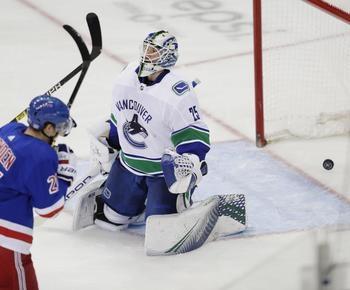 NHL roundup: Lundqvist ties Plante on NHL wins list, Rangers edge Canucks